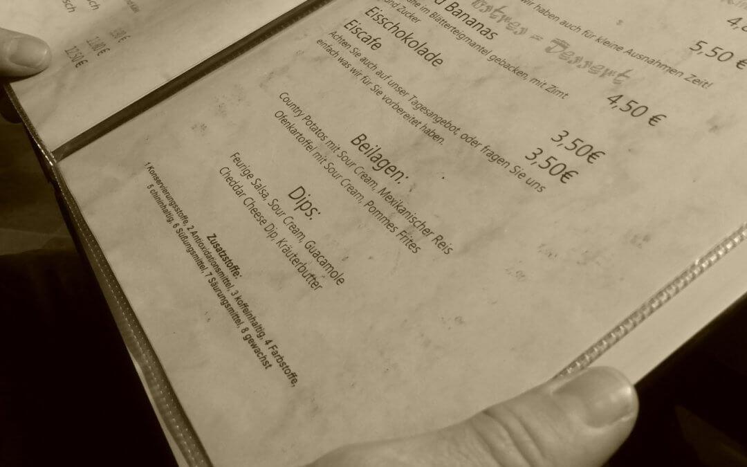 Speisekarte drucken, GM Druck – Flyer und Speisekarten preiswert und schnell